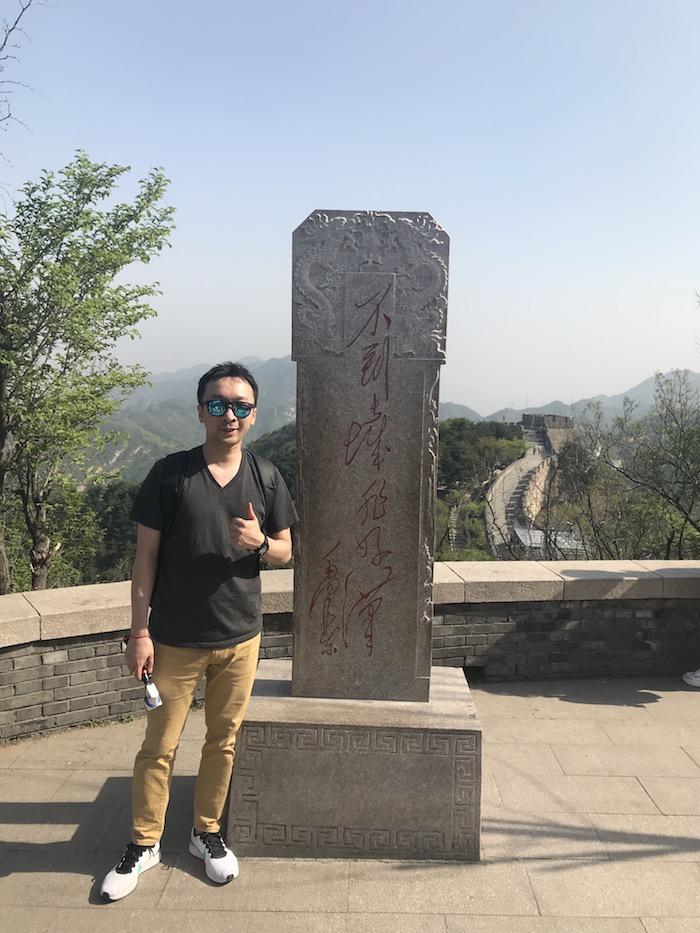 万里の長城の男坂